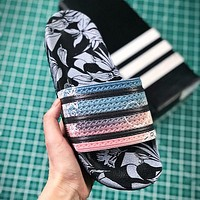 Adidas Originals Adilette Sliders Men Fashion Print Slipper Sandals Shoes
