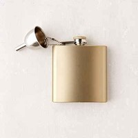 Stainless Steel Flask + Funnel - Urban Outfitters