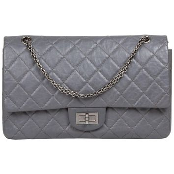 Chanel Reissue 227 Grey Leather Pristine Conditions