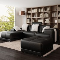 Small Guzman Sofa Sectional by Scene Furniture - Opulentitems.com