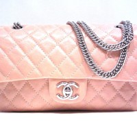CHANEL Matlasse chain shoulderbag Leather (calf) Pink