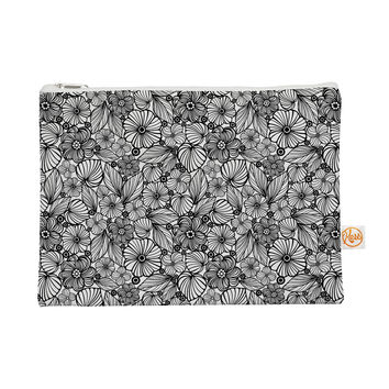"Julia Grifol ""Candy Flowers In Black"" Gray White Everything Bag"