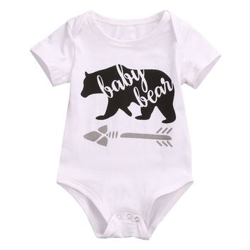 Cotton Newborn Infant Kids Baby Boy Girl Romper Jumpsuit