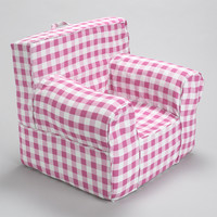 Pink Gingham Chair Cover for Foam Childrens Chair