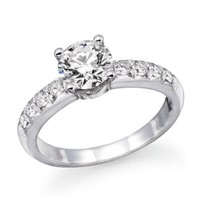 Amazon.com: 1 ctw. Certified GIA Round Diamond Solitaire Engagement Ring in 14k White Gold (I Color, VS2 Clarity): Natural Diamond: Jewelry