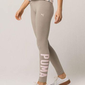 PUMA Athletic Womens Rock Ridge-Pearl Leggings