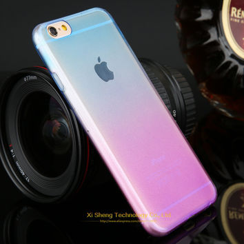 Promotions Phone Cases for Apple iPhone 5 5s Case Transparent Gradient Color Design TPU Silicon Phone Covers Shell Top Quality