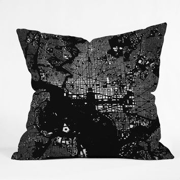 CityFabric Inc DC Black Throw Pillow | DENY Designs Home Accessories