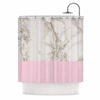 """Suzanne Carter """"Marble And Pink Block"""" Modern Contemporary Shower Curtain"""