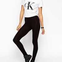 ASOS TALL 2 Pack High Waisted Leggings in Black Save 10%