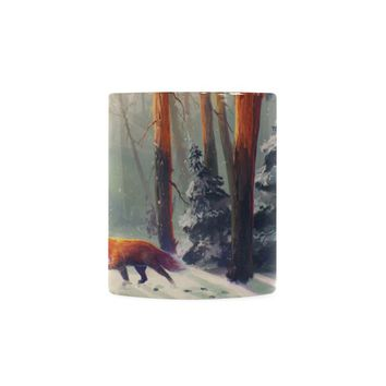 Wolf in the Forest with Sunshine White Mug(11OZ)