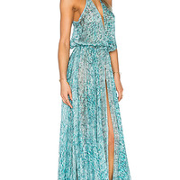 Cassia Maxi Dress in Dreamy Blooms Turquoise