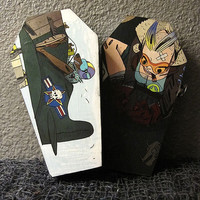 Tank Girl and Booga Comic Coffin Box - Gothic Horror Nerd Geek Titan Comics Trinket Keepsake