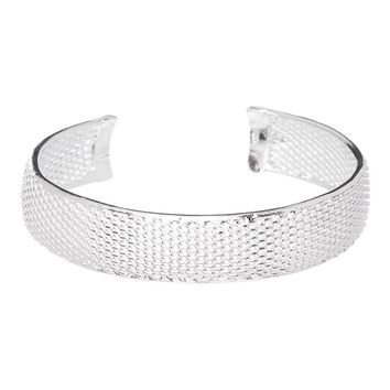 Valentine's Day Gifts Mariah Bracelet Bangle 925 Sterling Silver Plated, High Quality Silver Plated Bracelet, Adjustable Wide Cuff Bangle
