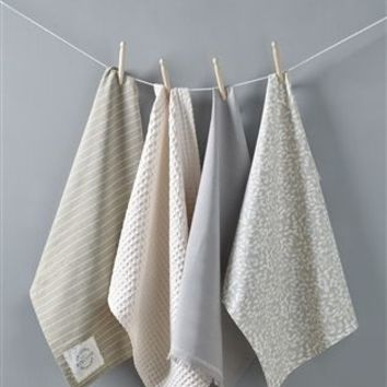 Buy Set Of 4 Natural Petal Tea Towels from the Next UK online shop