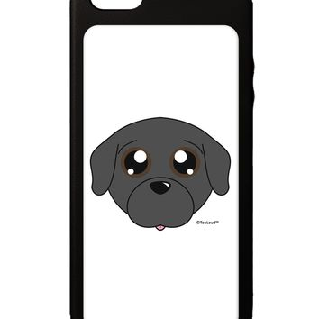 Cute Pug Dog - Black iPhone 5C Grip Case  by TooLoud