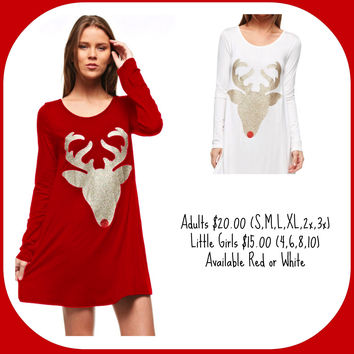 Rudolph Long Sleeve Tunic - Women's