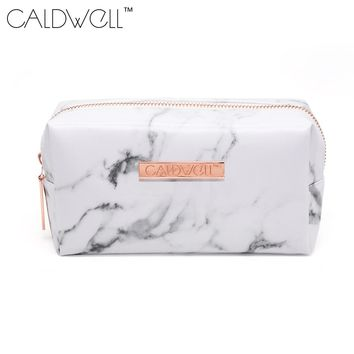 Marble PU Leather Cosmetic Bag