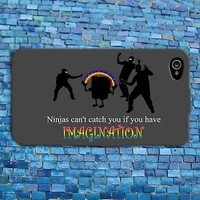 Funny Ninja Quote Phone Case Cool Custom Cute Cover iPhone New Grey Black