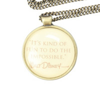 Disney Walt Quote Necklace
