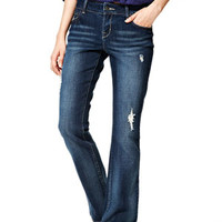 Reese Low-Rise Bootcut Jeans in Dark Oasis