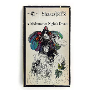 "Milton Glaser paperback book cover design, 1963. ""A Midsummer Night's Dream"" by William Shakespeare"