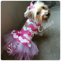 Monogram Dog Tutu Dress