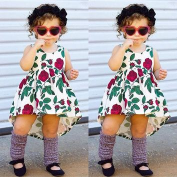 Cute Toddler Kids Baby Girl Dress Floral Party Dresses Sundress Outfits Clothes