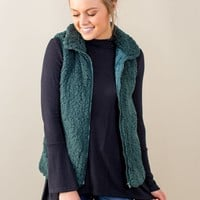 Trusted Heart Vest- Hunter Green