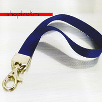 Royal blue wrist lanyard - wristlet - key chain - wrist strap with silver color trigger hook