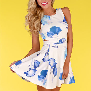 Violets Are Blue Floral Dress