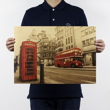 London Routemaster Vintage Wall Poster Wall Decorative Picture Wall Decals