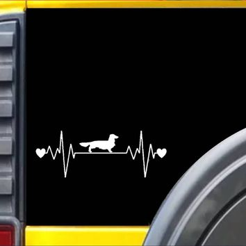 Longhaired Dachshund Lifeline Decal Sticker *I852*