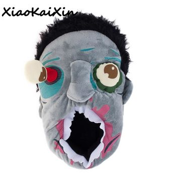 XiaoKaiXin Unisex Winter Warm Plush Zombies Slippers/Ravenous Zombie House Slippers Men&Women Home Halloween Funny Shoes gifts