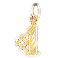 14K GOLD NUMERAL CHARM - #1 #9535