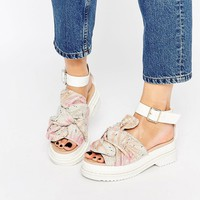 ASOS FILLY Chunky Bow Flat Sandals at asos.com
