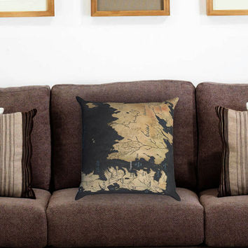 Westeros and Essos Maps Pillow Cover , Custom Zippered Pillow Case One Side Two Sides