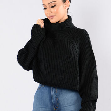 A Woman's Worth Sweater - Black