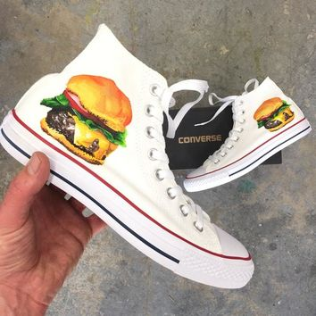 Custom Painted Burger Converse