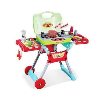 Deluxe Kitchen BBQ Pretend Play Grill Set w/ Light and Sound