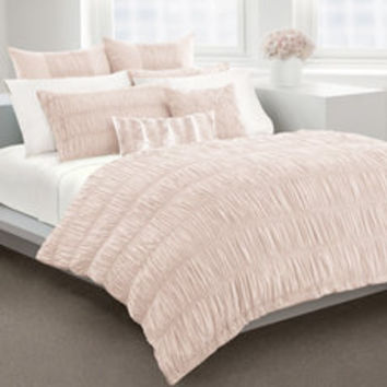 DKNY Willow Blush Duvet Cover, 100% Cotton, 230 Thread Count - Bed Bath & Beyond