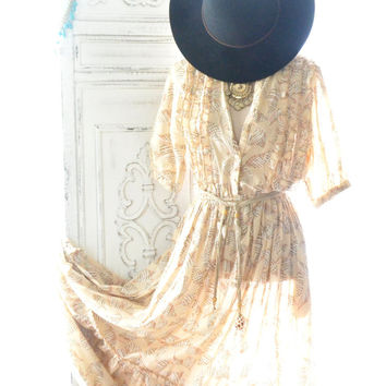 Vintage gunne Sax Maxi dress, Bohemian Beach sea shell dress, Boho chic dresses, Hippie chic Festival clothing , 70's, True rebel clothing