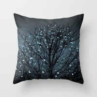 December Throw Pillow by Ann B.
