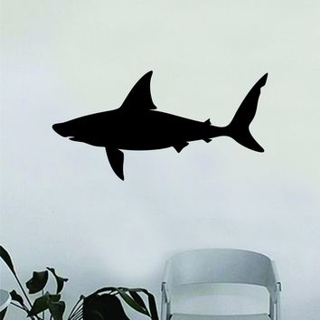 Shark Silhouette Design Animal Decal Sticker Wall Vinyl Decor Art Living Room Bedroom Kids Baby Nursery Teen Animal Ocean Beach Fish