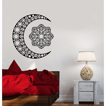 Vinyl Wall Decal Crescent Moon And Star Oriental Ornament Stickers (3156ig)