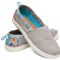 GREY FLORAL BLOCK YOUTH BIMINIS