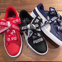 Puma Suede Basket Bow Logo Ribbon Sneakers
