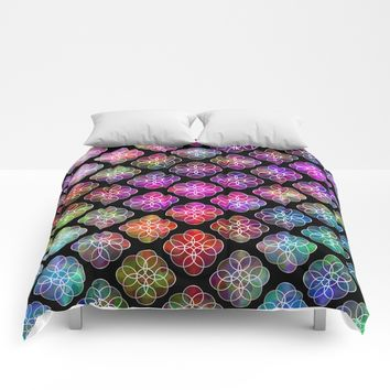 Rings Of Color Pattern Comforters by Sartoris ART