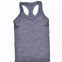 Running Vests Jogging 5 colors Women Sleeveless  Tank Tops Quick Dry Outdoor Smock Loose Vest Gym Fitness Sport Tops Singlet for Jogging KO_11_1