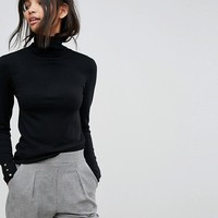 Stradivarius Classic Turtleneck Top at asos.com